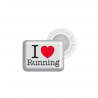 Accroches dossards magnétiques BIBBITS I love Running