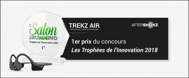 Le casque audio à conduction osseuse TREKZ AIR : 1er prix des Trophées de l'Innovation au Salon du Running 2018