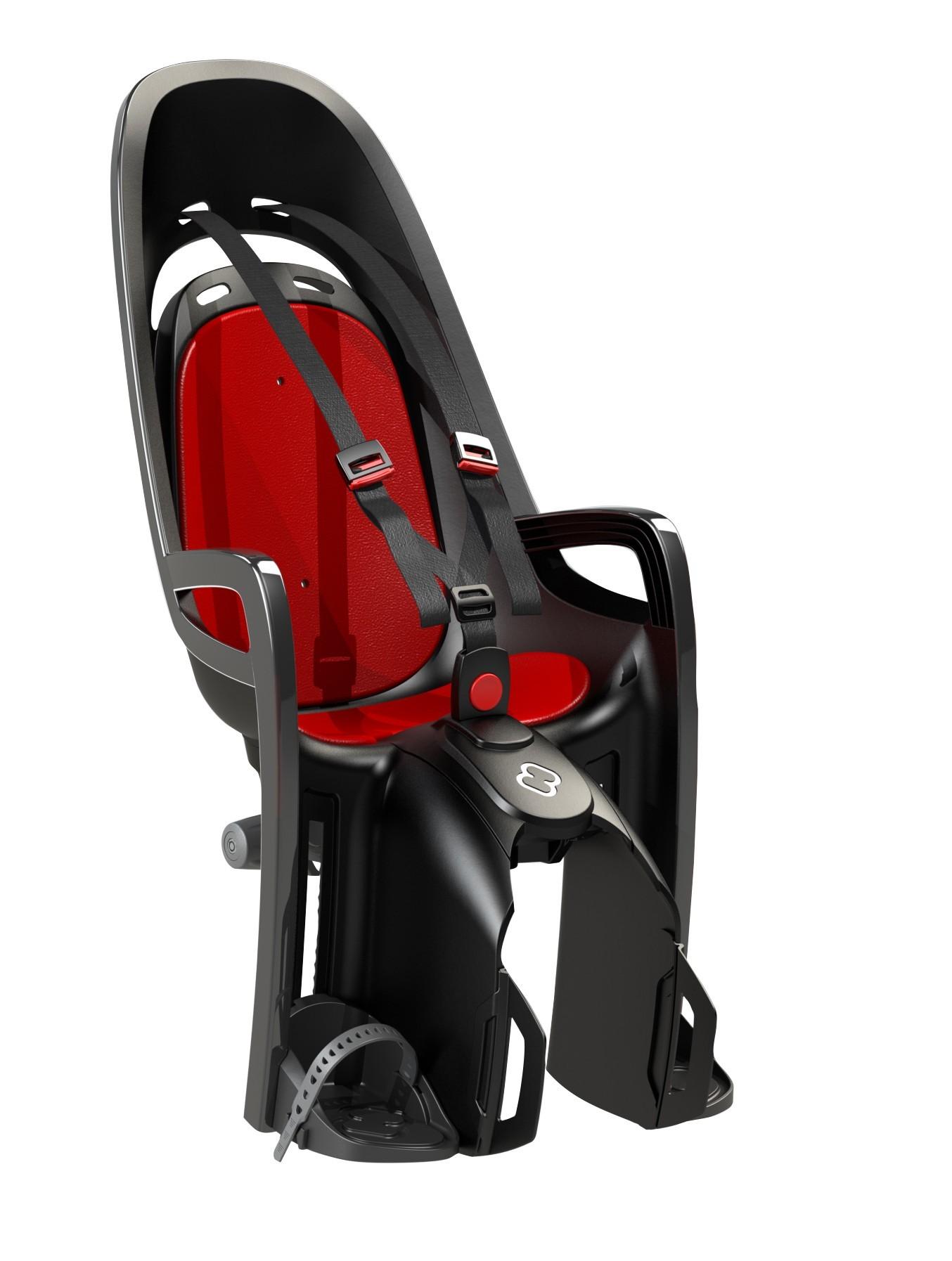 Hamax Porte-bébé Caress Zenith gris-rouge avec adaptateur